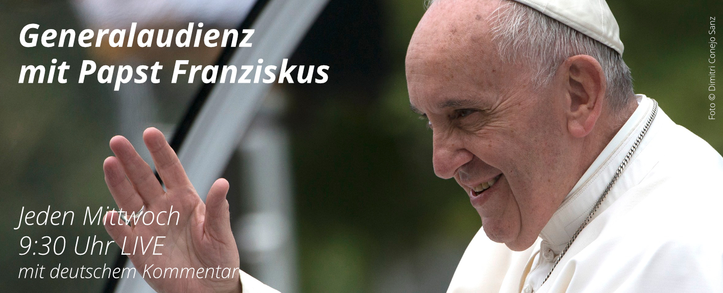 Papstaudienz live aus Rom
